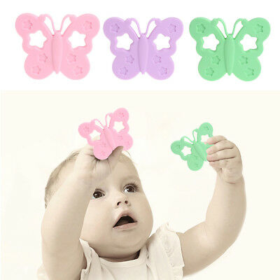 BPA Free Baby Silicone Butterfly Teether DIY Chewable Nursing Necklace Jewelry