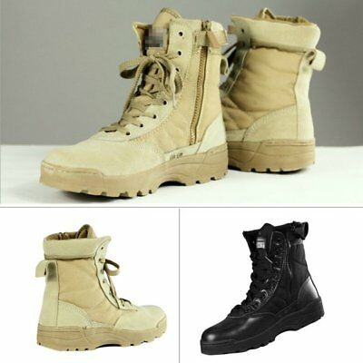 Mens Military Tactical Survival Ankle Boots Desert Combat Army Hiking Shoes Duty