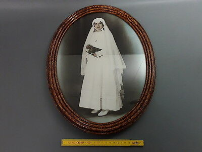Antique Very Nice Frame Oval Wooden Glazed French Antique Photo Frame