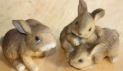 Lot of 2 Bunny Figurines by Homco