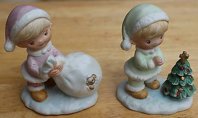 Set of 2 Kid Figurines by Homco