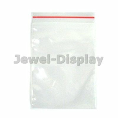 50Pcs Grip Seal Poly Plastic Self Resealable Packaging Storage Bags Size Choice