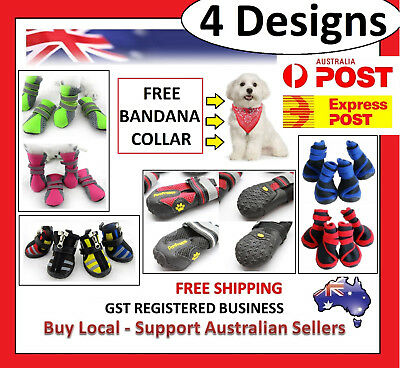 4 Designs Pet Dog Shoes Puppy Cat Shoes Boots Waterproof Anti-Slip Paw Protector