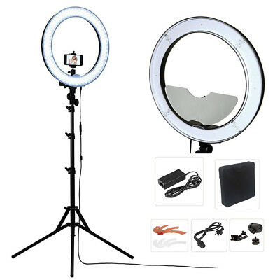 """Studio Dimmable 18"""" 55W 5500K LED Camera Mirror Video Ring Light Kit with 2M ..."""