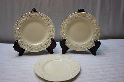"""Lot of 3 Crown Ducal Dark Cream Bread and Butter Plates 6"""" Used"""