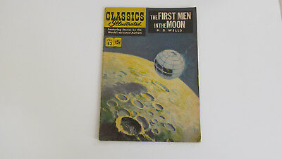 THE FIRST MEN IN THE MOON CLASSICS ILLUSTRATED Comic Rare No 52 15c H.G. WELLS