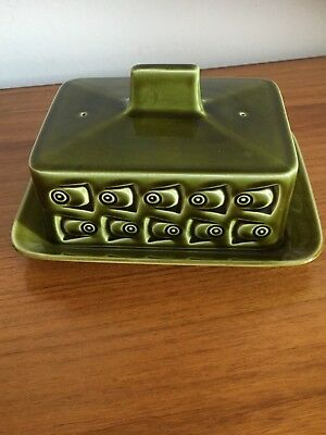 John Clappison- Eastgate Withernsea Pottery Cheese/Butter Dish 1970's Retro