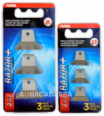 Fluval Razor 2-in-1 Replacement Blades Medium # 11086 Free Shipping Cleaning & Maintenance Pet Supplies