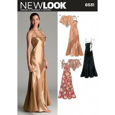03c072f5659 New Look Special Occasion Misses Evening Gowns and Capelet Sewing Pattern  6531