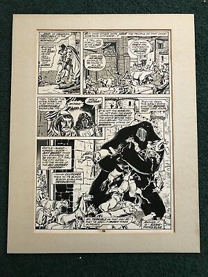 Conan the Barbarian Original Art Page 15 issue 55 corrections Tom Palmer Signed