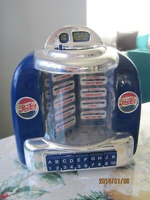 Vintage Pepsi Cola Jukebox Music Box  And Bank 1998 Yesterday And Don't Be Cruel