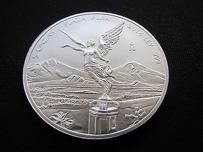 2014 5 oz Silver Libertad Angel .999 Coin BU (6,400 Minted)