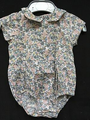 🌸 Baby Girls Vintage Style Floral Romper / Top 3-6 Months HOLLY WILLOUGHBY 🌸