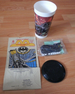 McDonald's Cup Featuring Batman Returns With Batmobile