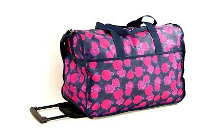 Cabin-Size Fashion-Style Rolling Duffel with Detachable Shoulder Strap, Light