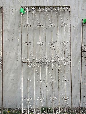 Antique Victorian Iron Gate Window Garden Fence Architectural Salvage Door #322
