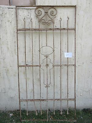 Antique Victorian Iron Gate Window Garden Fence Architectural Salvage #869