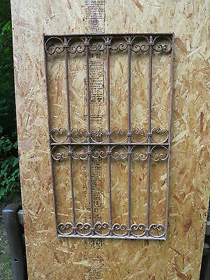 Antique Victorian Iron Gate Window Garden Fence Architectural Salvage Guard J