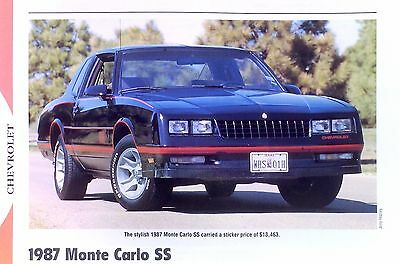 1987 Chevrolet Monte Carlo SS V8 305 info/specs/photo/prices production 11x8