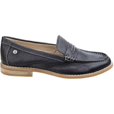 3709119a639 HUSH PUPPIES WOMENS LADIES Iris Sloan Leather Slip On Loafer Shoes ...