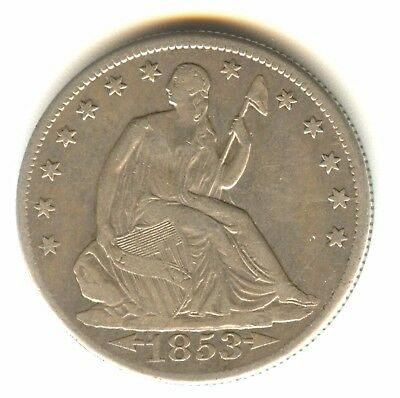 1853 O Seated Liberty Half Dollar VF++ In Grade Arrows and Rays