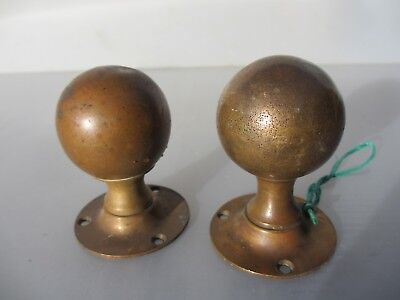 Antique Bronze Door Knobs Handles Architectural Vintage Old Victorian Reclaim