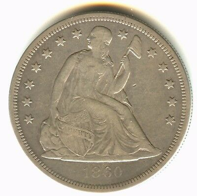 1860 O Seated Liberty Dollar VF++ In Grade Scarce New Orleans Mint Issue