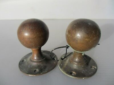 Antique Bronze Door Knobs Handles Architectural Vintage Old Victorian ODD