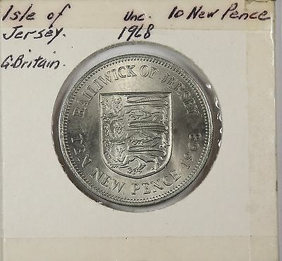 Jersey, 1968 10 New Pence Uncirculated (15071-1156)