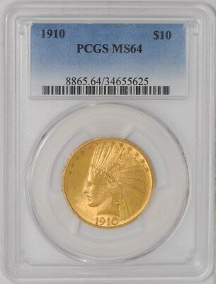 1910 $10 Gold Indian MS64 PCGS