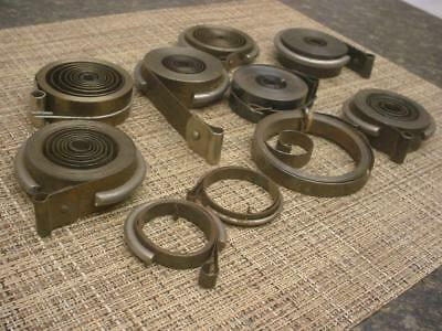 Large Lot Various Vintage Vigor Superior Clock MainSprings Repair work   E904