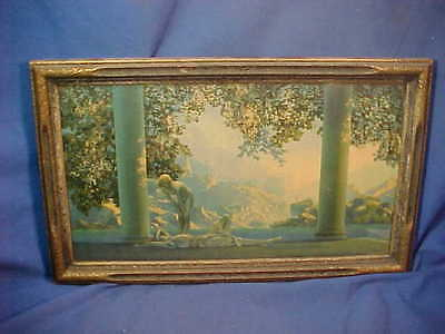 Orig 1920s MAXFIELD PARRISH Illustrated DAYBREAK Framed PRINT Reinthal + Newman
