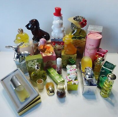 Lot of 17 Vintage Avon Decanters Colognes Perfumes Solid Perfumes & Body Powder