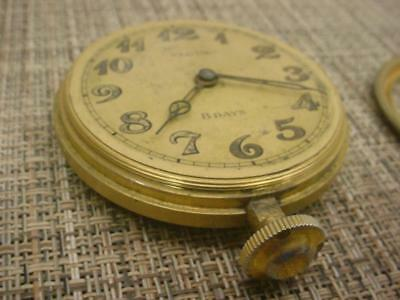 Elgin National Watch Co. Automotive 8 Eight Day Pocket Watch # 30248976 E512b