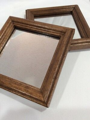 Vintage Home Interiors Set of Two Small Mirrors #1236-A0