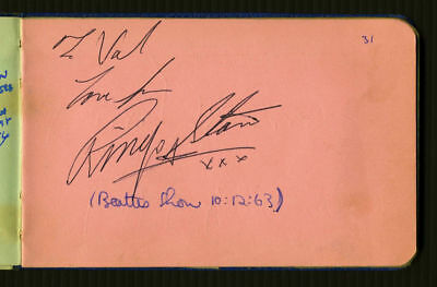 1963 Beatles Ringo Starr Authentic Autograph - Tracks Certified