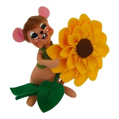"""ANNALEE ~ 2014 ~ Adorable ~ """"Sunflower Mouse"""" ~ 6"""" ~ #350614 ~  NWT"""