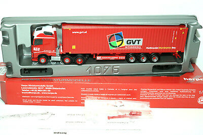 """Herpa,Volvo FH Gl. 6x2 45 ft. Container-Sattelzug """"GVT"""" (NL) 34"""