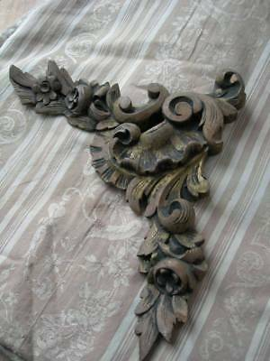 Antique French hand carved 19th Century gilded wood surmount