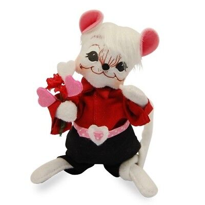 """ANNALEE ~ 2016 ~ Valentines ~ 6"""" ~ """"Sweetheart Boy Mouse"""" ~ #100216 ~ NWT"""