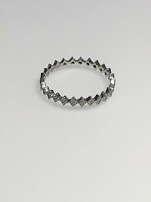 Cathy Waterman diamond eternity ring platinum size 7