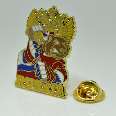 "Ice Hockey Federation of Russia ""Bear"" pin, badge, lapel, hockey"
