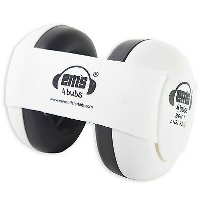 Em'S 4 Kids 0-18M Noise Protection Baby Earmuffs in White