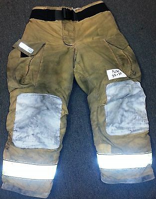 38x30 Pants Firefighter Turnout Bunker Fire Gear w/ Liner Globe Gxtreme P634