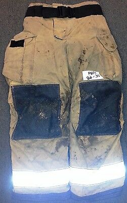 36x30 Pants Firefighter Turnout Bunker Fire Gear w/ Liner Globe Gxtreme P654