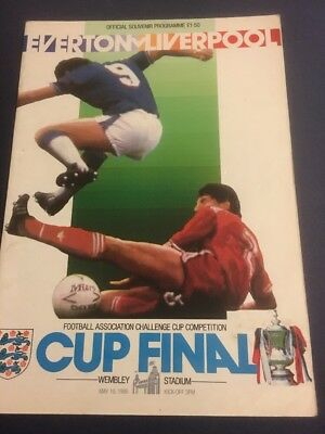 1986 FA Cup Final Programme Everton V Liverpool