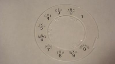 NEW Clear Western Electric Dial Plate - for Princess Lighted Rotary Dials - NOS