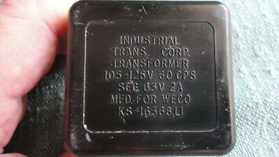Industrial Trans. Corp. For Western Electric Ks-16368, L1 Transfomer 6.3V 2A