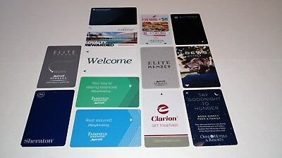 Lot of 13 DIFFERENT Hotel Key Cards - Lowes, Sheraton, Omni, Pullman, Marriott