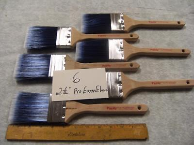 """Purdy paint brush, lot of 6 Pro Extra Elasco 2.5"""", 2 1/2"""" wide.  Exceptional!"""